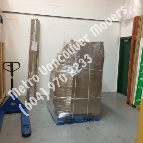 pallet packing in Metro Vancouver Movers