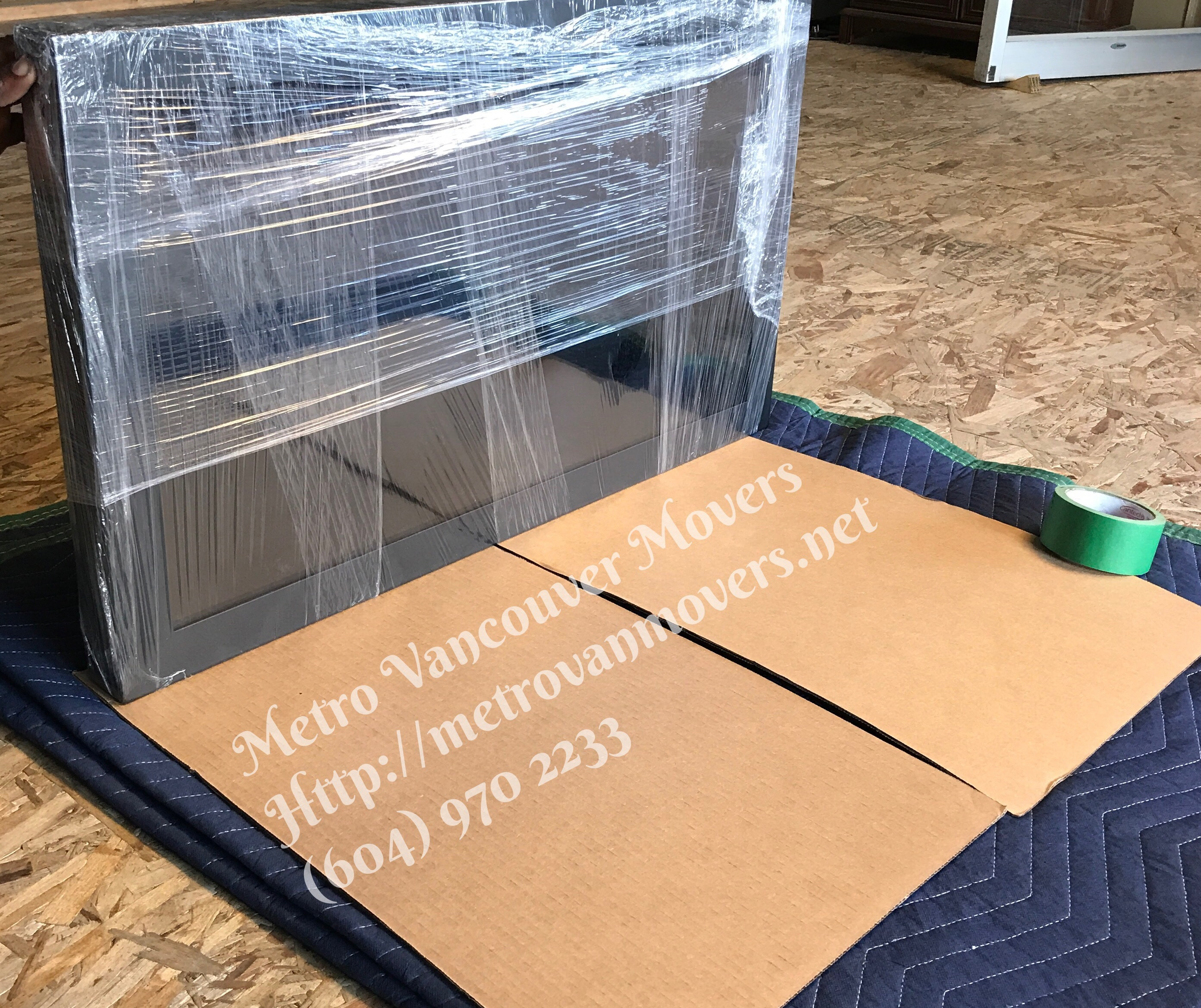 how to pack a flat screen tv for shipping