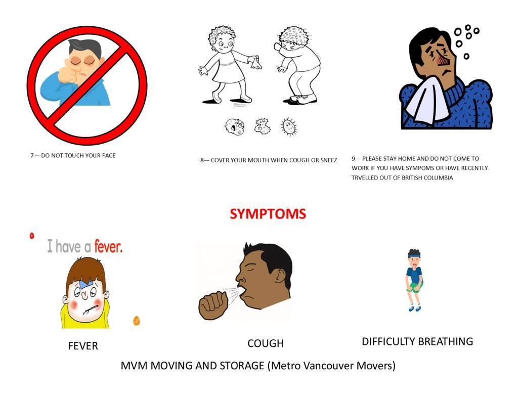 our Vancouver moving company has asked the movers and packers follow these rules in case of covid-19 pandemic