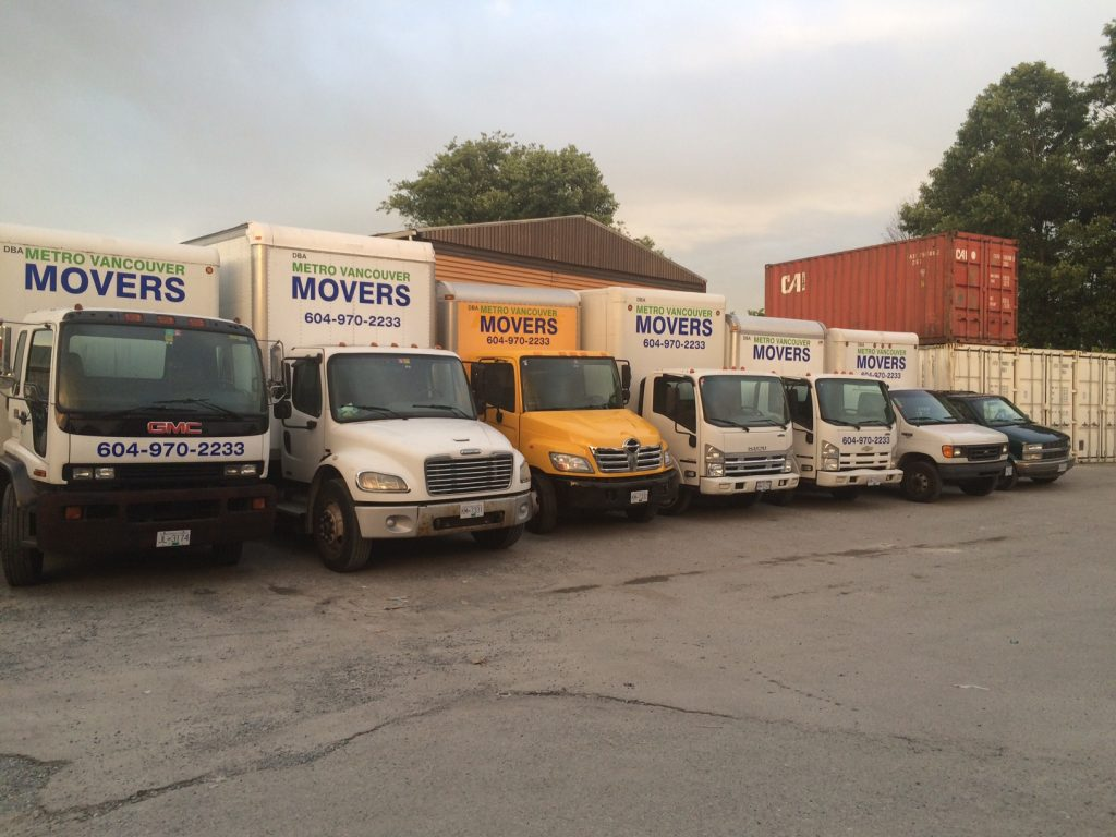 fleet of our moving trucks from one ton to 5 ton